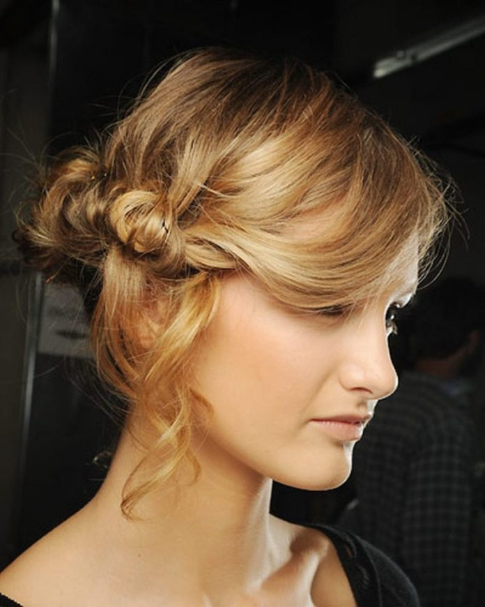 Side Twisted Updo Hairstyle