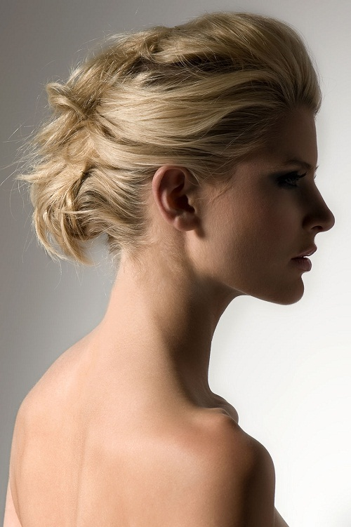 Combed Back Updo