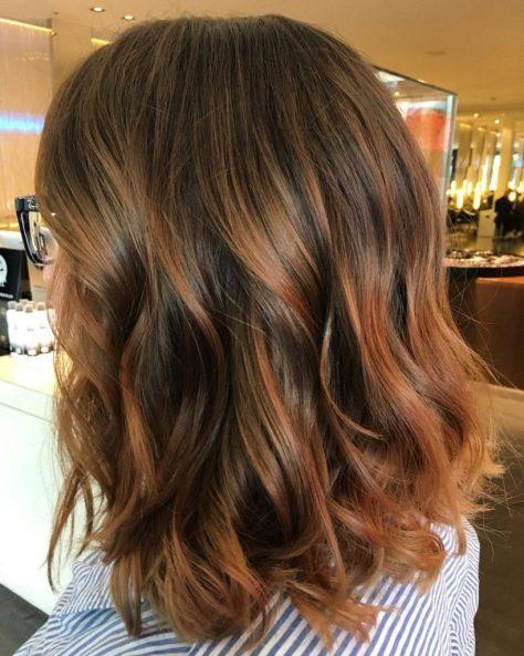 Balayage Medium Layered Hairstyle