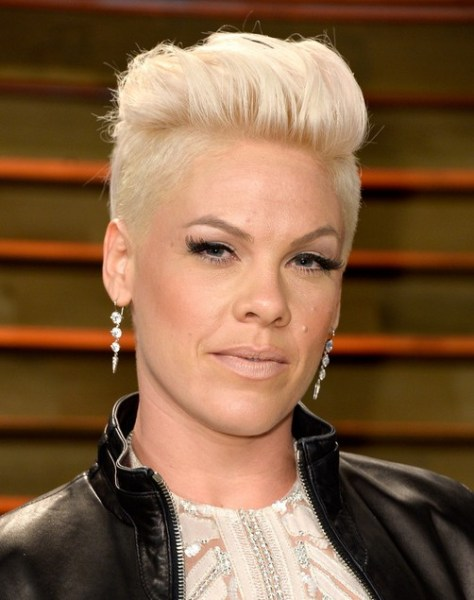 Short Faux Hawk Hairstyle for Older Women