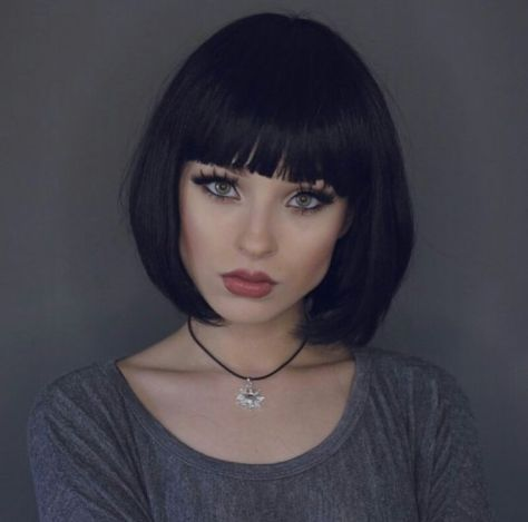 Straight Bob with Blunt Bangs