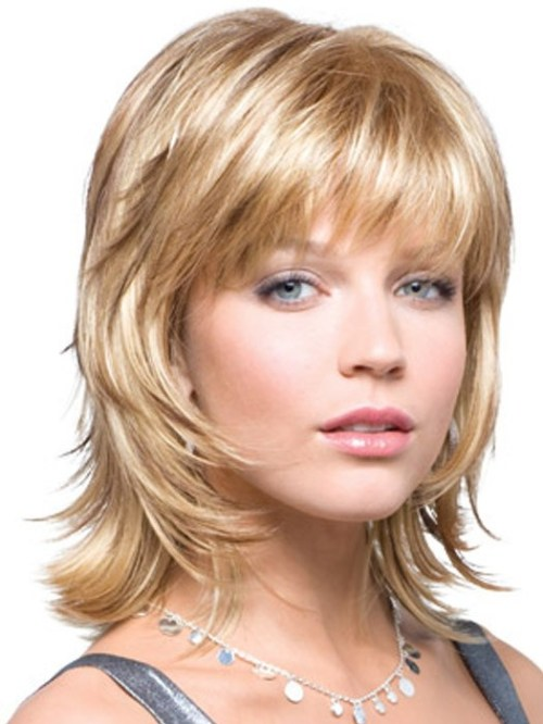 Blonde Shag Haircut with Layers