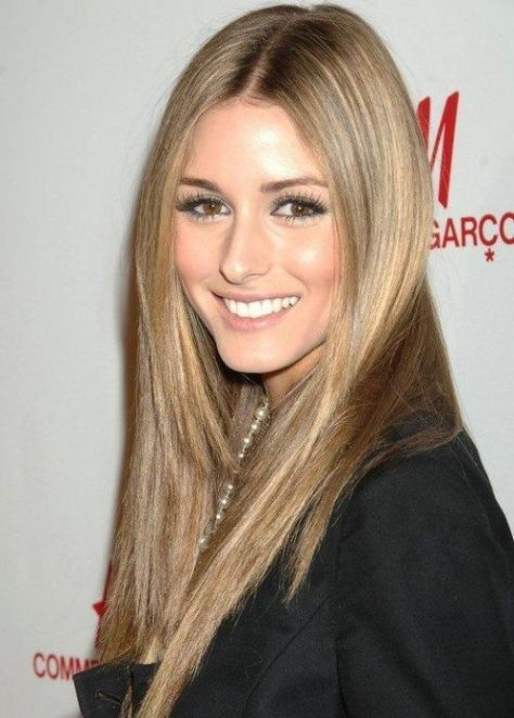 Center Parted Light Brown Straight Hair