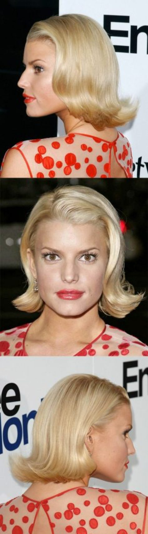 Light Blonde Bob with Waves