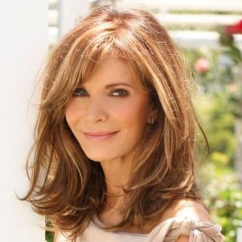 Medium Length Hairstyle for Older Women