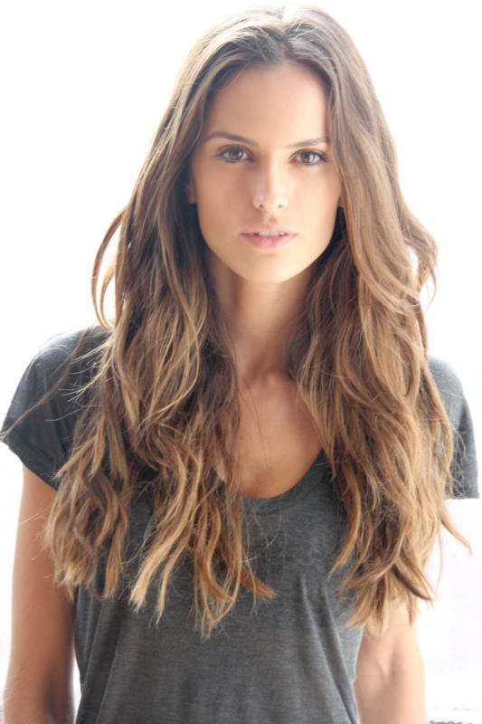 Brown Balayage Long Wavy Hair