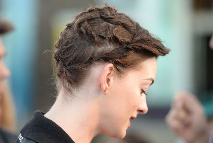 Grown Out Pixie Updo with Twists