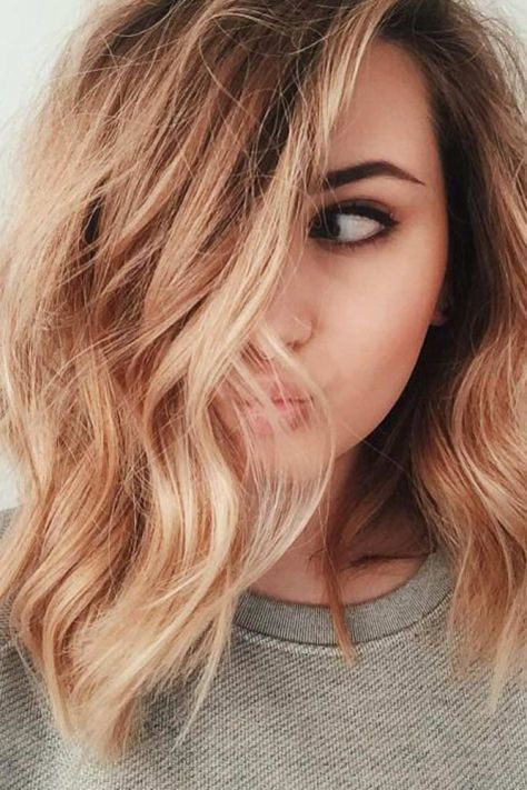 Side Swept Mid Length Brown Hair