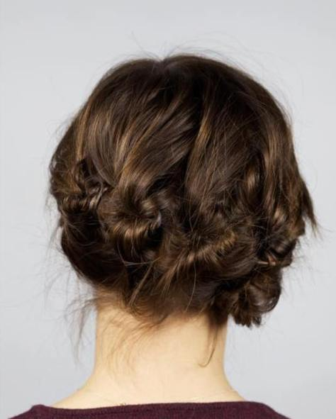 Messy Buns Updo Hairstyle