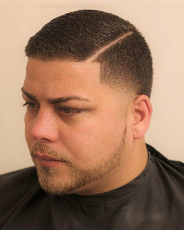 Short Comb over Razor Cut