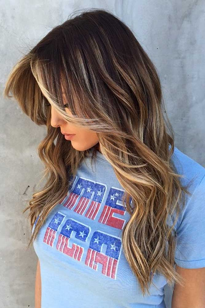 Blonde Balayage Long Wavy Hair