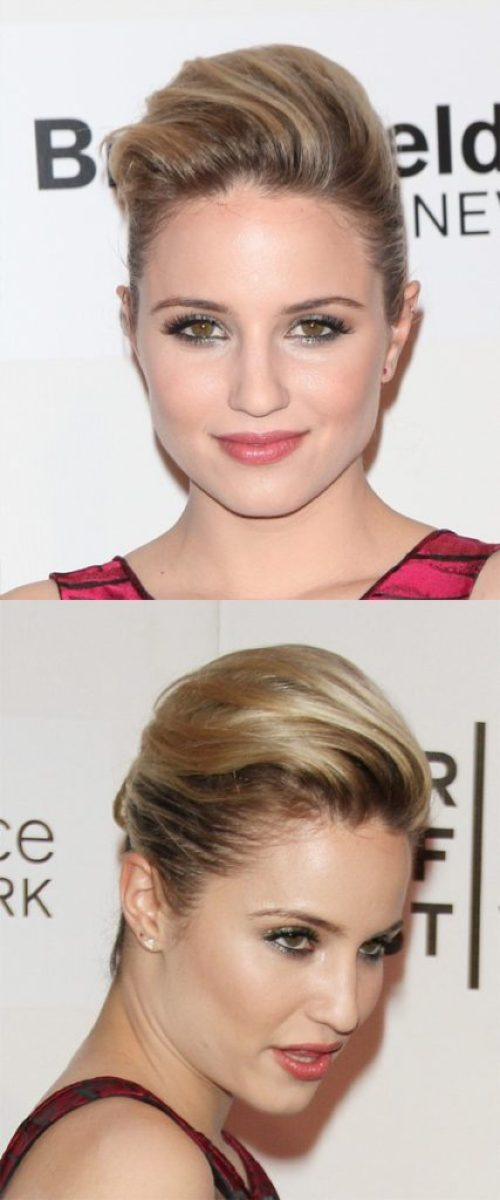 Medium Straight Formal Updo Hairstyle