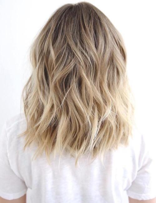 Beach Blonde Medium Shag Haircut