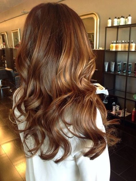Brown Hair with Dark Caramel Highlights