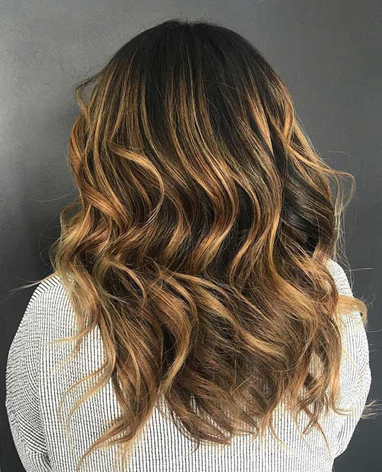 Caramel Balayage Long Hair