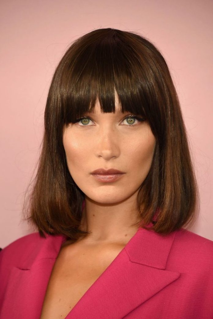 Sleek and Smooth Medium Bob with Bangs