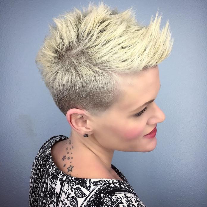 Short Spiky Blonde Pixie