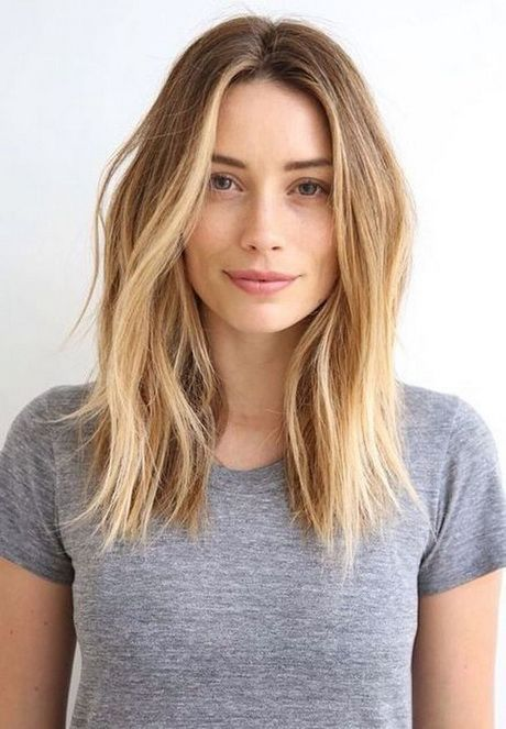 Center Parted Medium Blonde Hair