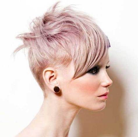 Pastel Ombre Messy Short Hair