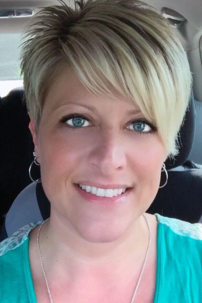 Asymmetrical Blonde Long Pixie Cut