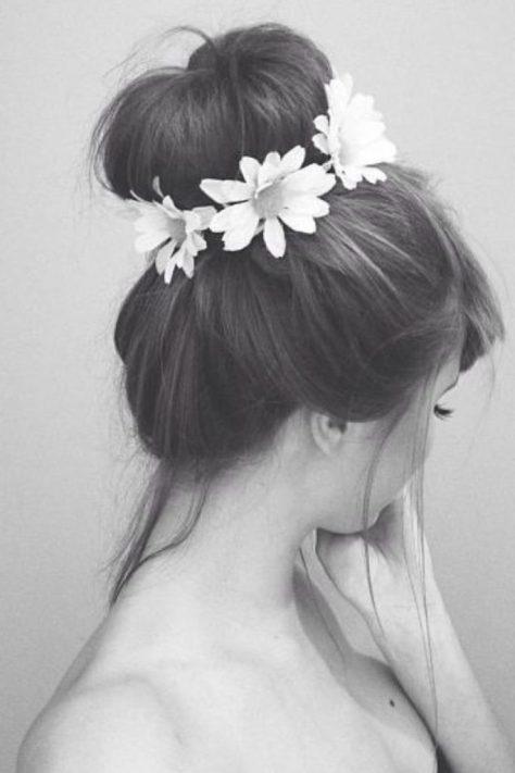Bun with Flower Crown