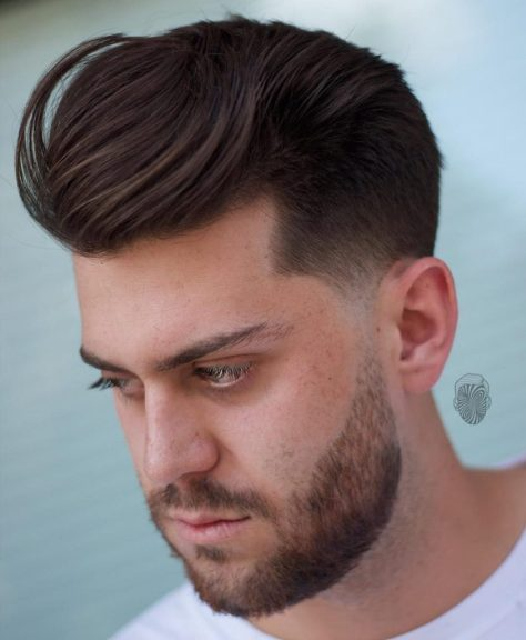 Swept Back Hairstyle