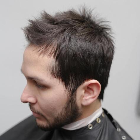 Spiky Receding Hairline Haircut
