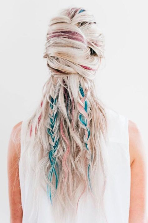 Long Ombre Hair with Highlights