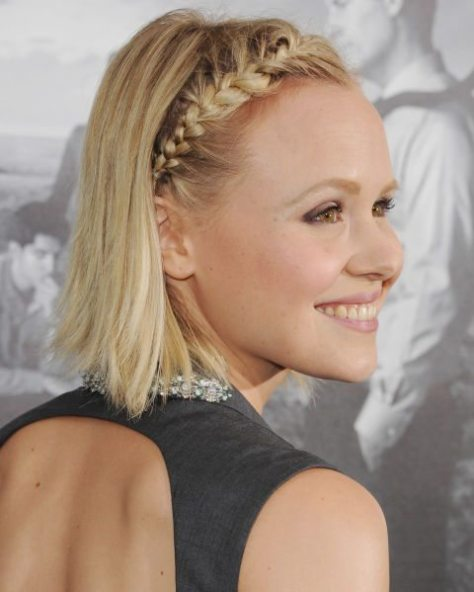 11. Short Blonde Braided Hair