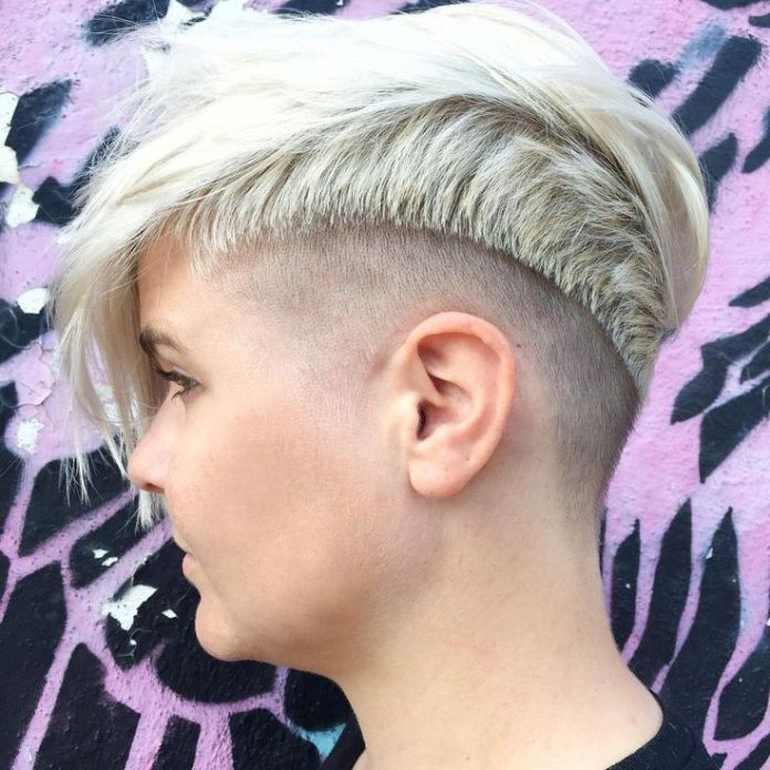 Funky Short Haircut with Bangs