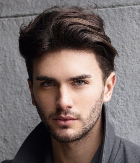 Medium Hairstyle for Men with Thick Hair