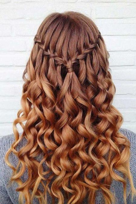 Heart Shaped Waterfall Braid Hairstyle