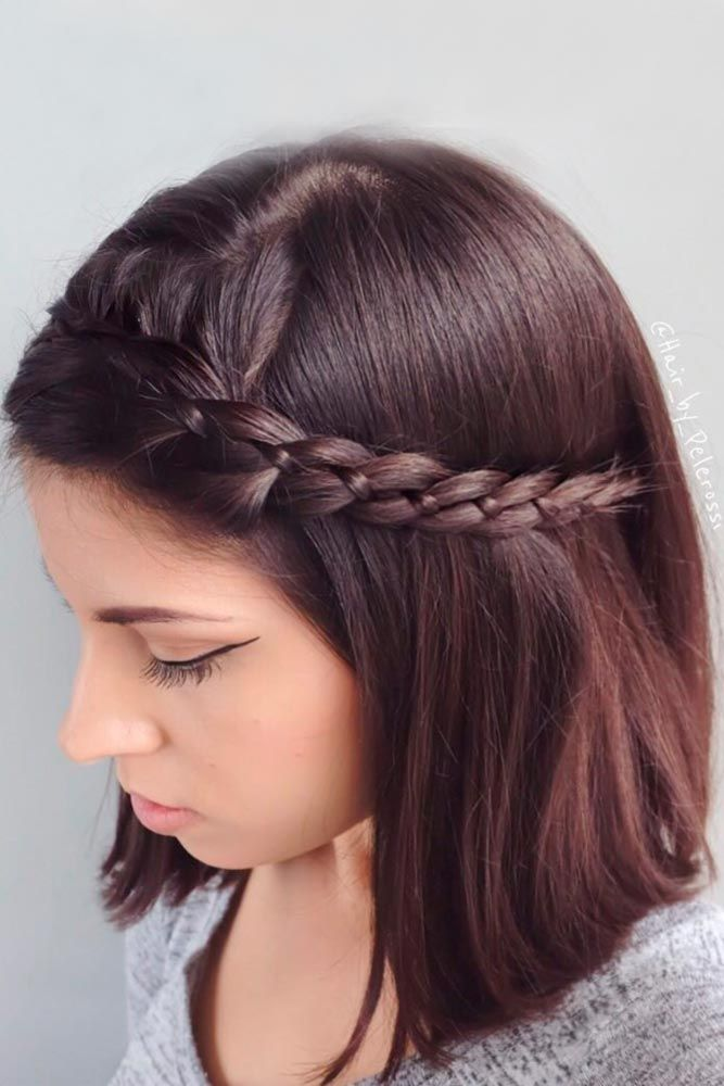 Shoulder Length Hair with Side Braid