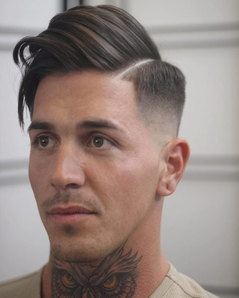 Side Part Mid Fade