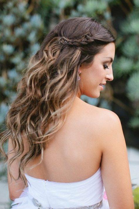 Wavy Hair with Braids