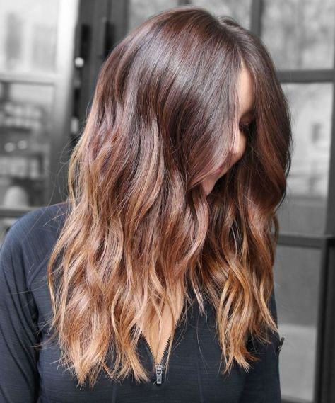 Brunette to Blonde Ombre Long Wavy Hair