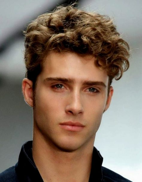 Medium Curly Hairstyle for Men