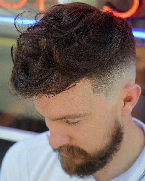 Long Messy Hair with Fade