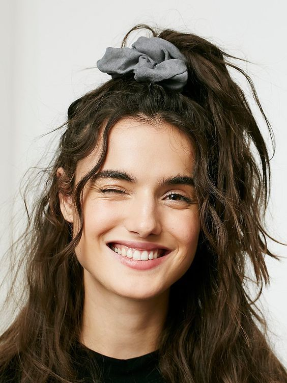 Wavy Hair with Scrunchies