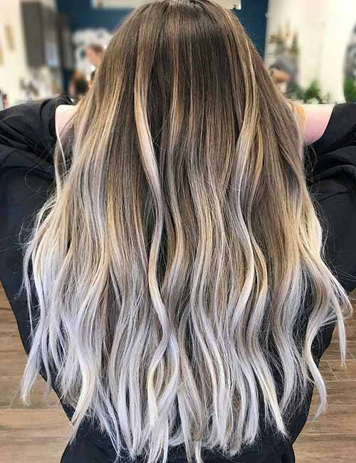 Icy Ash Blonde Highlighted Hair