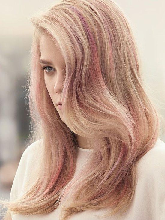 Rose Gold Blonde Highlights