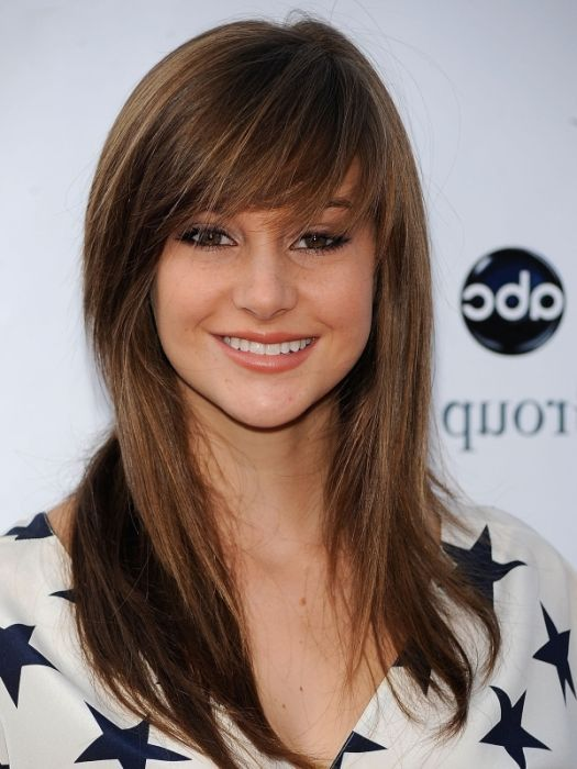 Long Straight Layered Hairstyle with Bangs