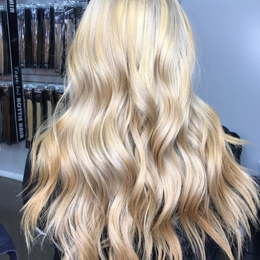 Beaded Weft Hair Extensions Las Vegas Client