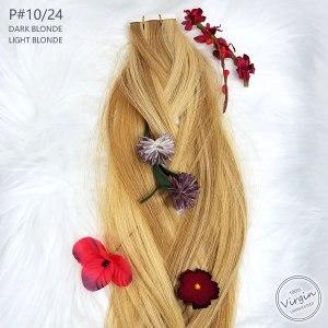 Virgin-Tape-In-Hair-Extensions-Dark-Blonde-Light-Blonde-10-24-Braid-Flowers.fw