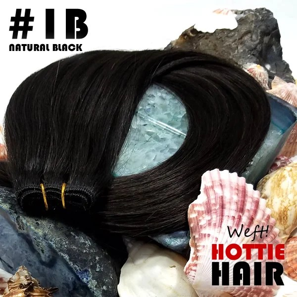 Weft Hair Extensions Natural Black Rock 01B.fw
