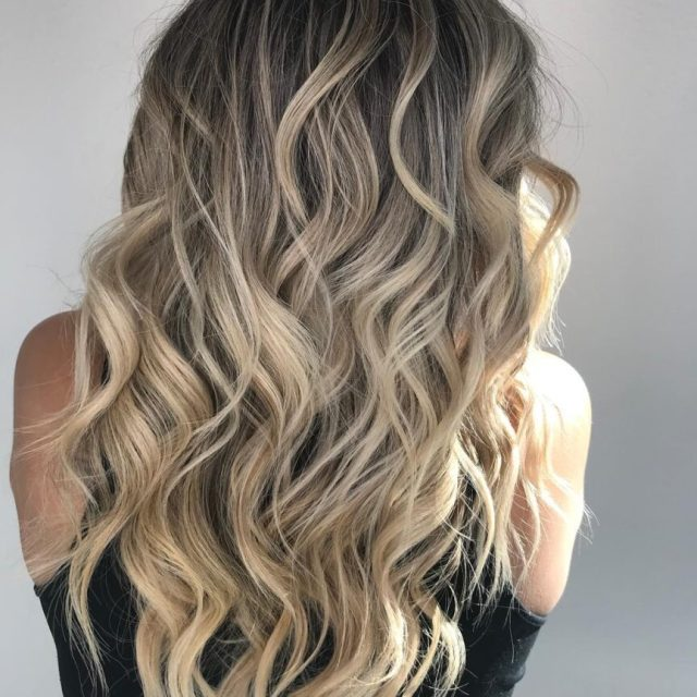 ombre hair ash brown light blonde