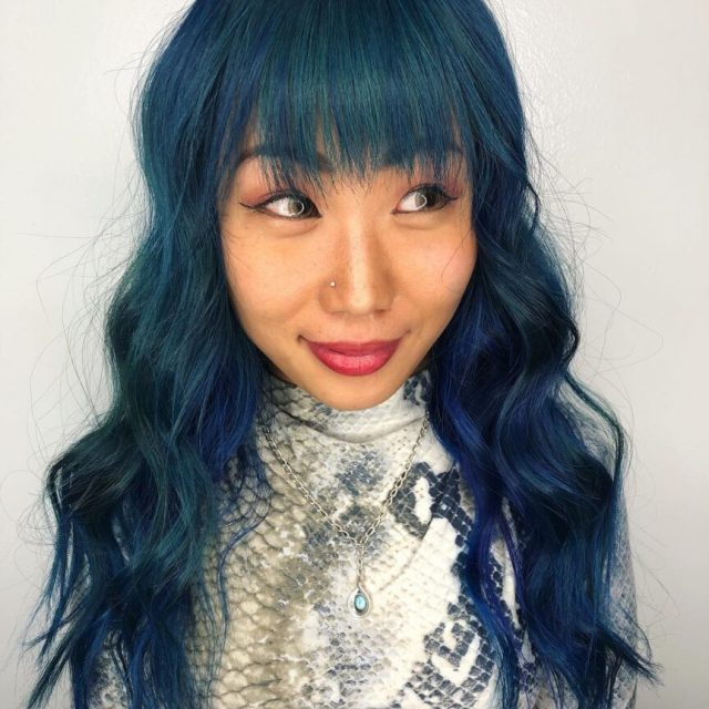 maintain blue with root touch up