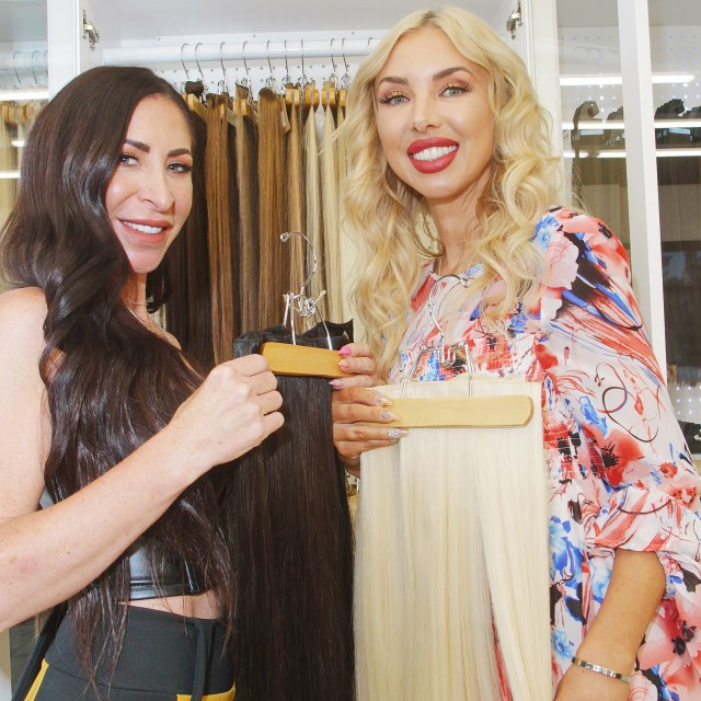 Women Showing Highest Quality Russian Hair Extensions You Can Get In Las Vegas