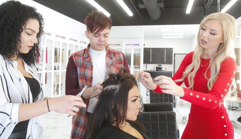 Training Hair Stylists How To Install Hair Extensions in Las Vegas