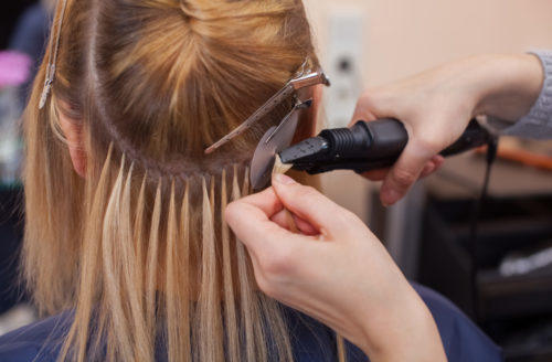 Fusion Hair Extensions Installation